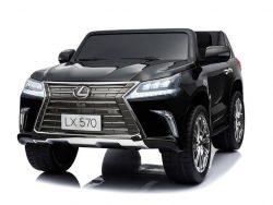 lx570-lexus-elektrische-kinderauto-mp4-rubberen-banden-leder-zitje-accu-toys-zwart1